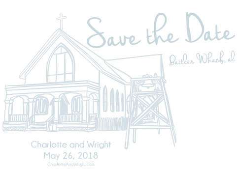 Charlotte and Wright Save the Date